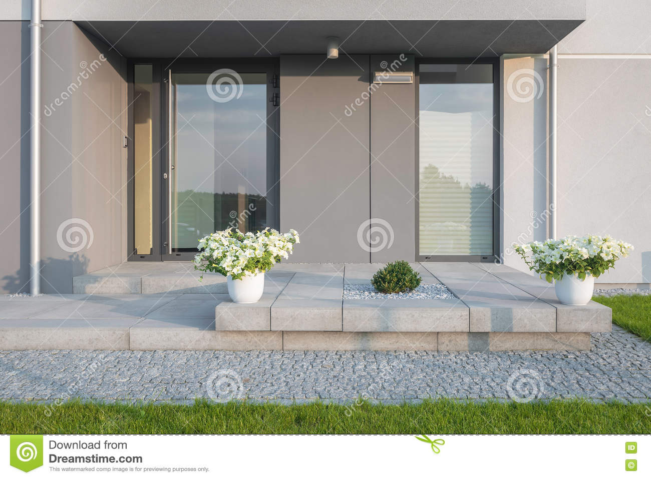 Beautiful Entrance Design In New Style Stock Image Image Of