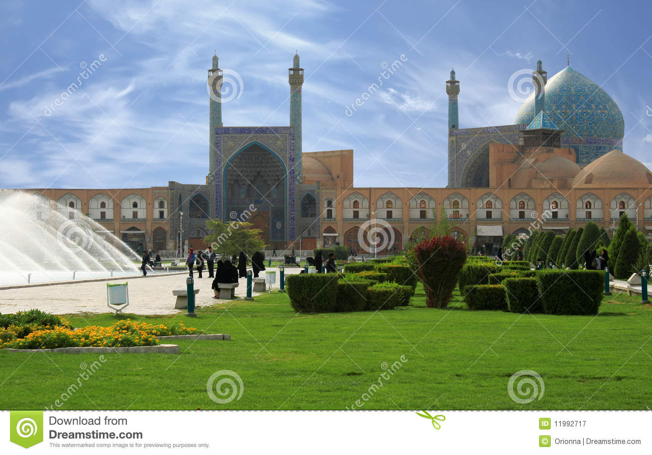 Beautiful Esfahan mosque, Iran, path included