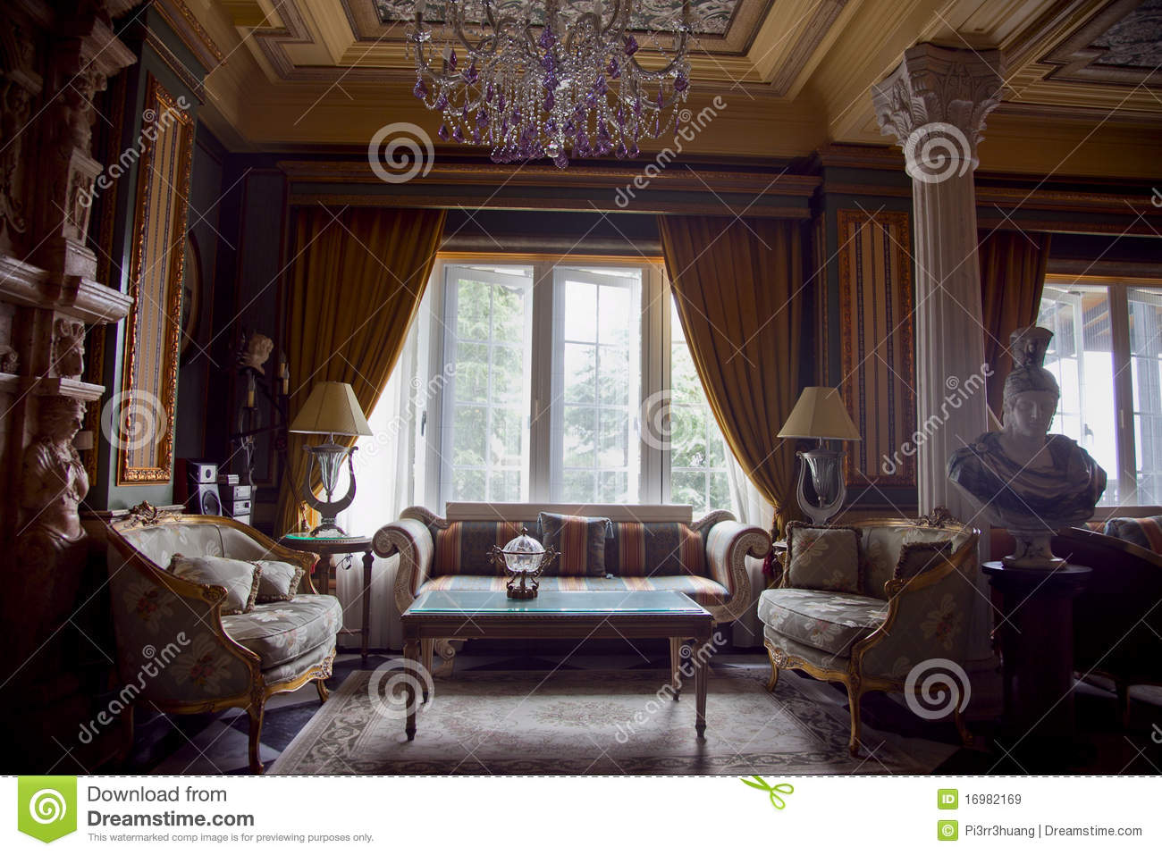 Beautiful europe imperial style hotel lobby royalty free for Style hotel