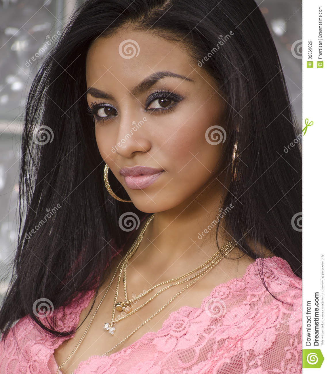 Beautiful Exotic Young Woman Stock Photo