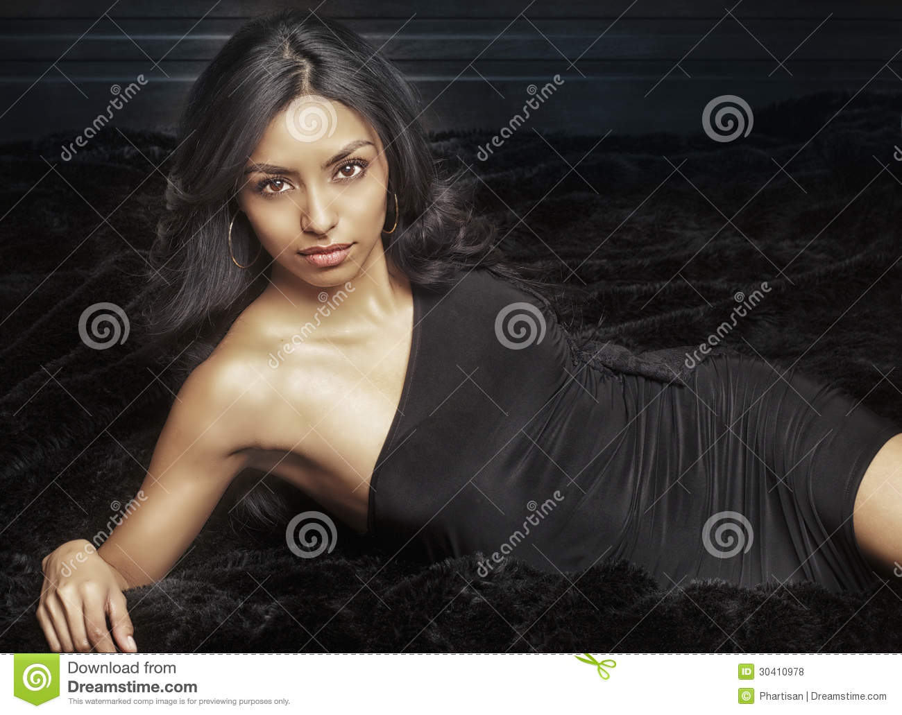Beautiful Exotic Young Woman Stock Photo - Image of hispanic, elegant: 30410978