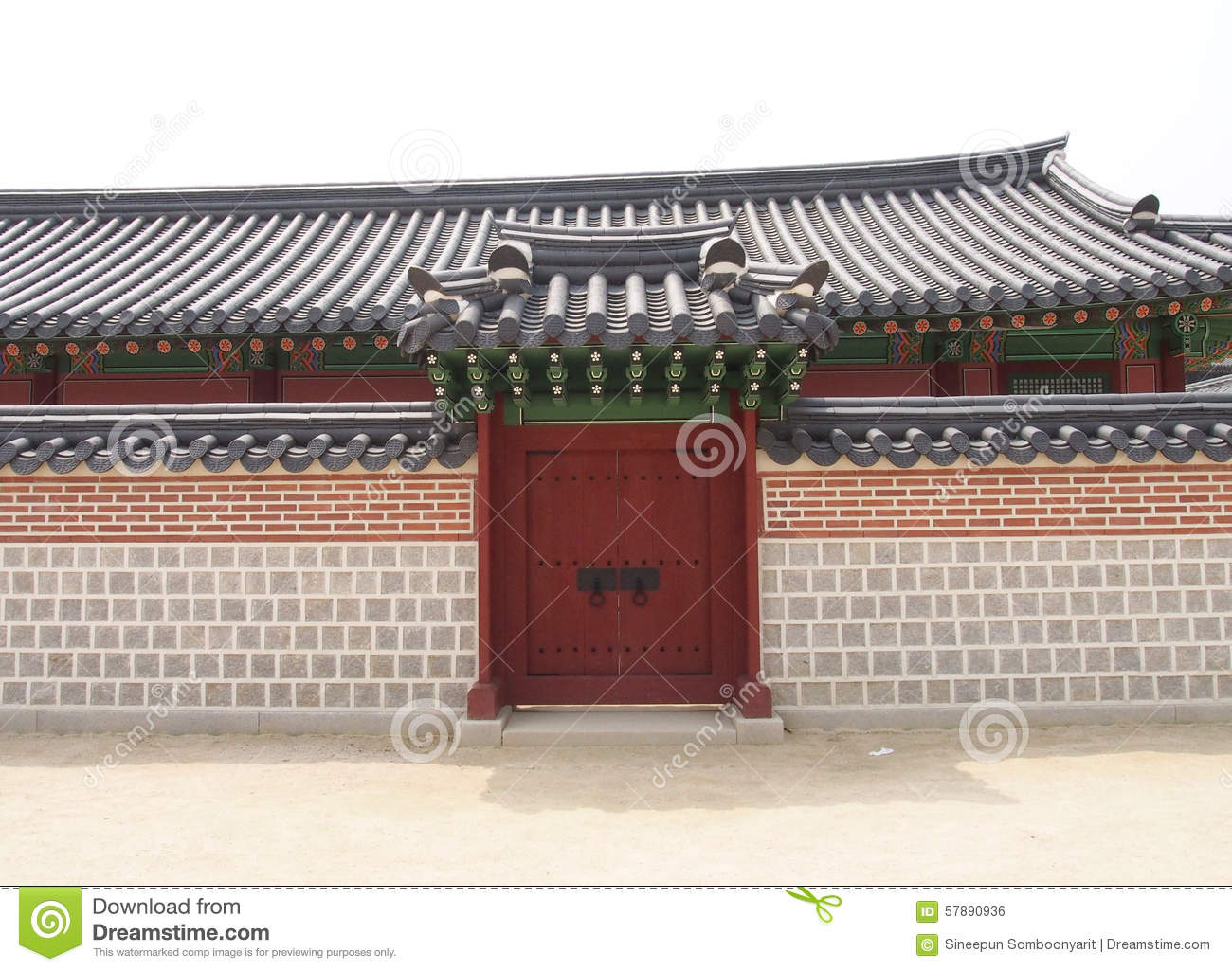Beautiful exterior entrance with boundary wall stock photo for Exterior background