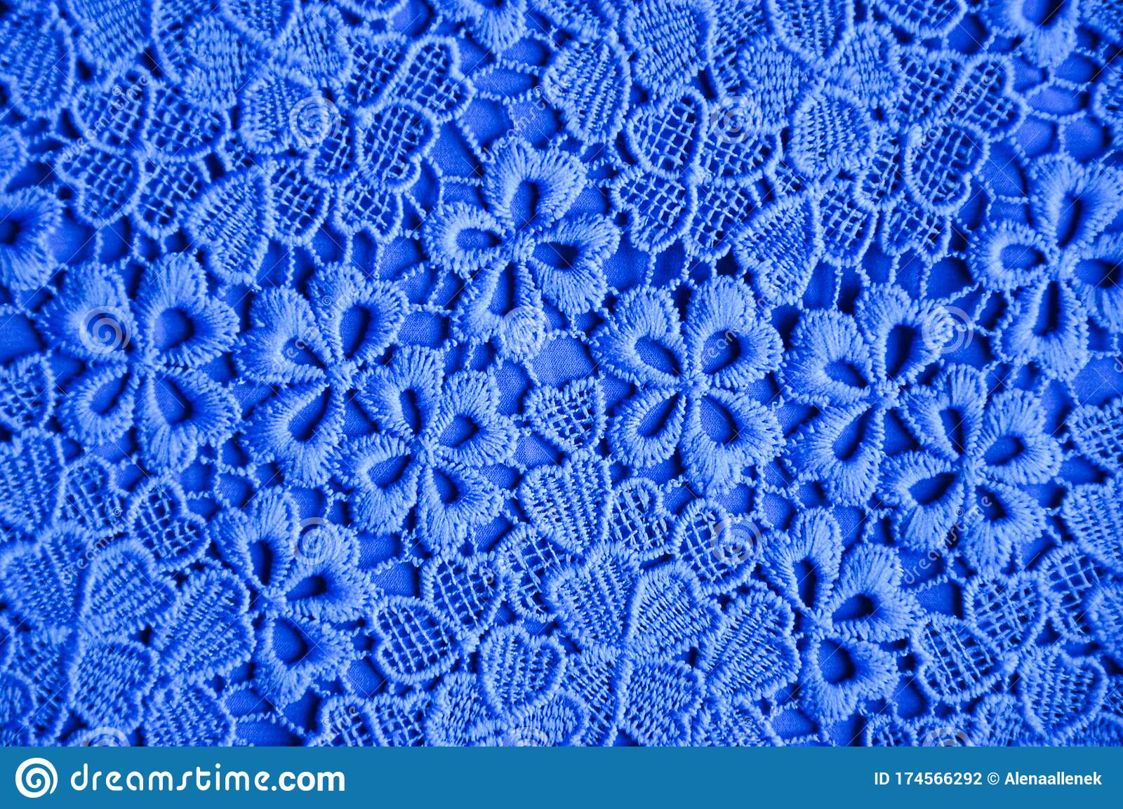 The Texture Of The Fabric Blue Openwork Pattern Background Stock Photo Image Of Openwork Texture 174566292