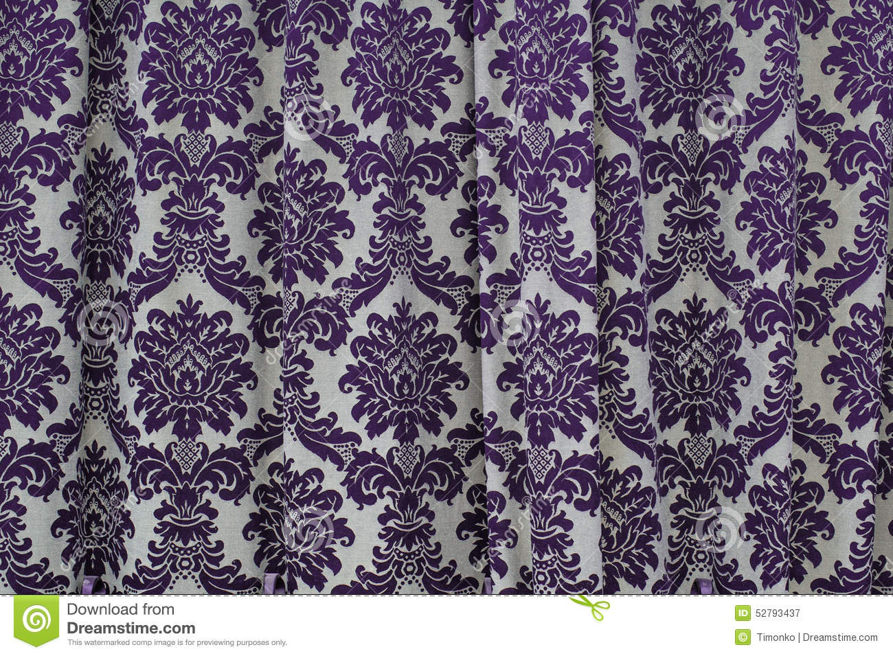 Curtains texture - Beautiful Fabric Texture Curtains With Vintage Pattern