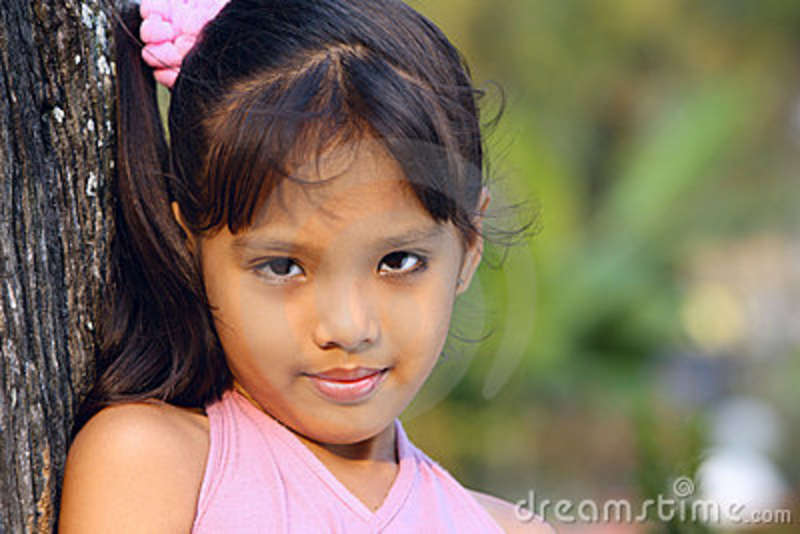 Beautiful Face 5 Years Old Girl Stock Photography Image