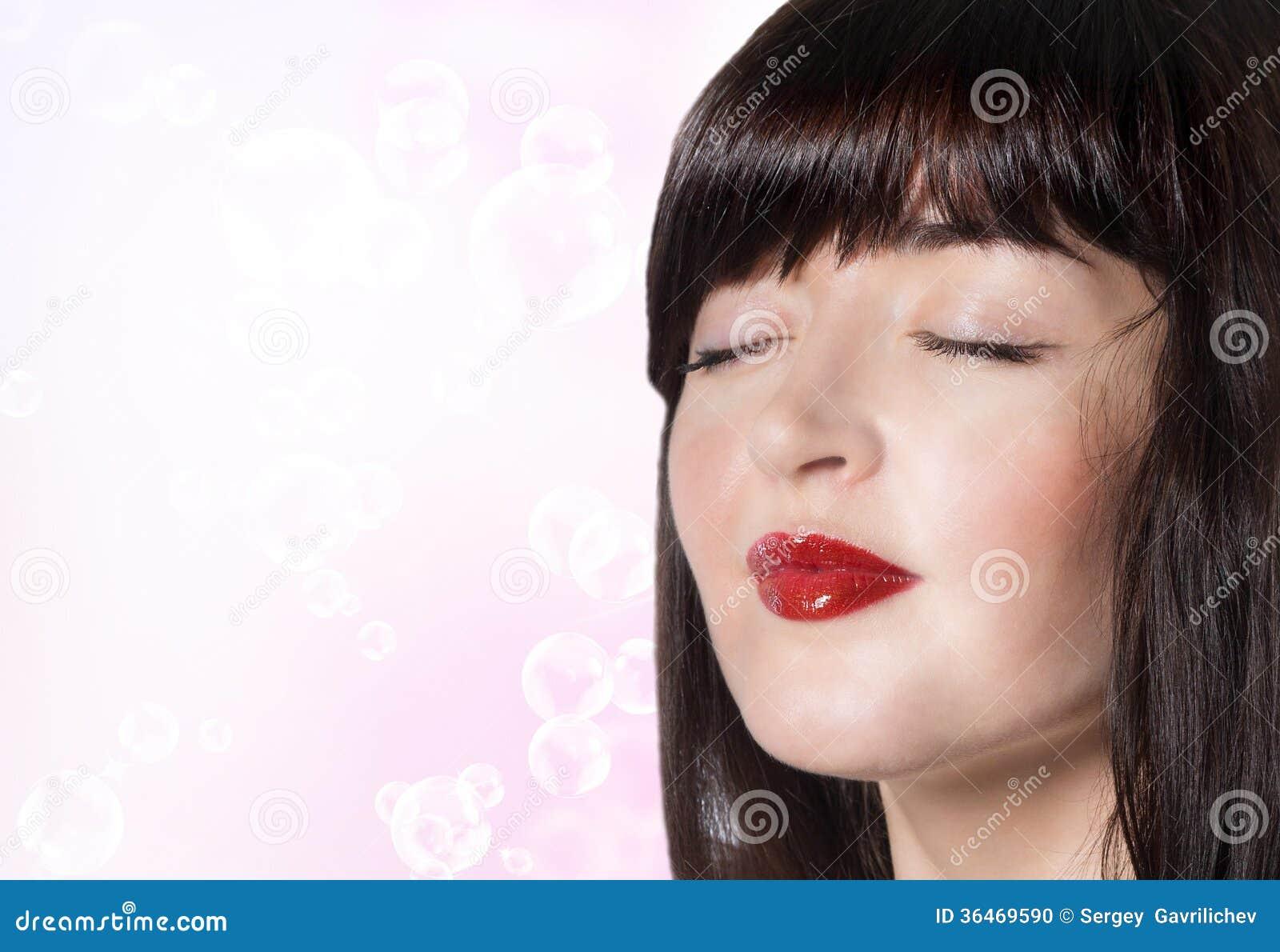 Beautiful face girl spa skin care stock photo image for A skin care salon