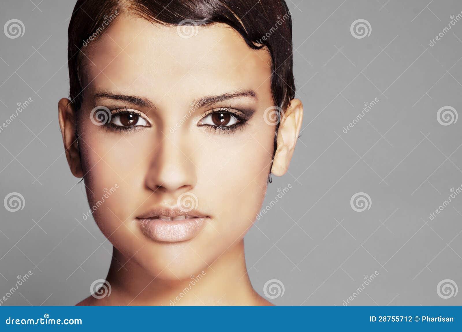 She?) it's Professional make short facial hair she