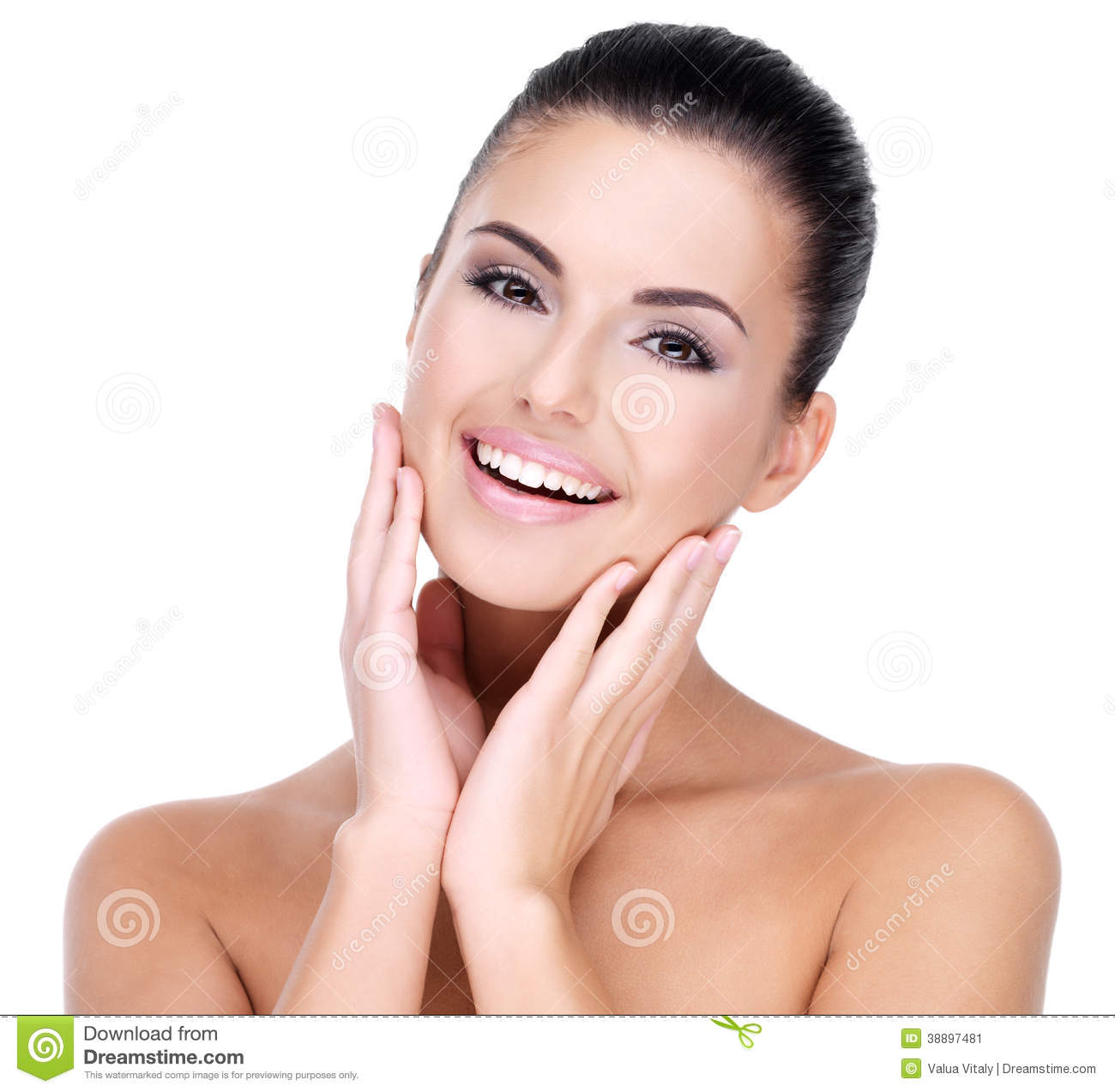 Beautiful face of smiling woman