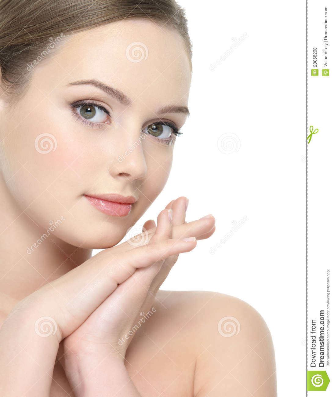 Beautiful Face Of Young Woman Stock Photo Image Of Fresh Woman