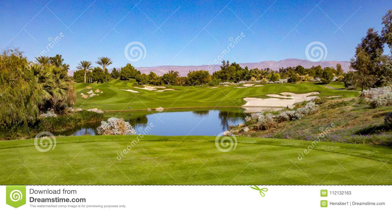 Beautiful Fairway At Indian Wells Golf Course Near Palm Springs