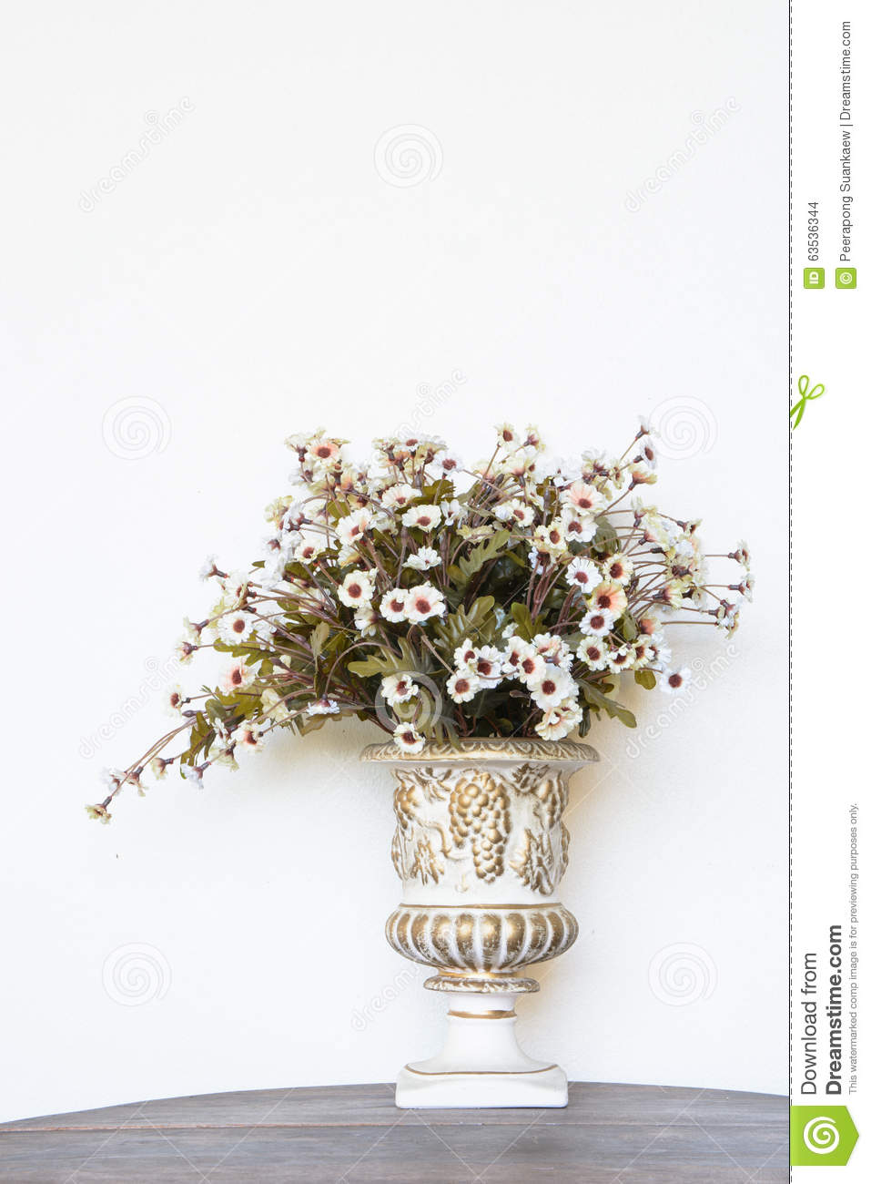 Beautiful Fake Flowers In Vase Stock Photo Image Of Pretty