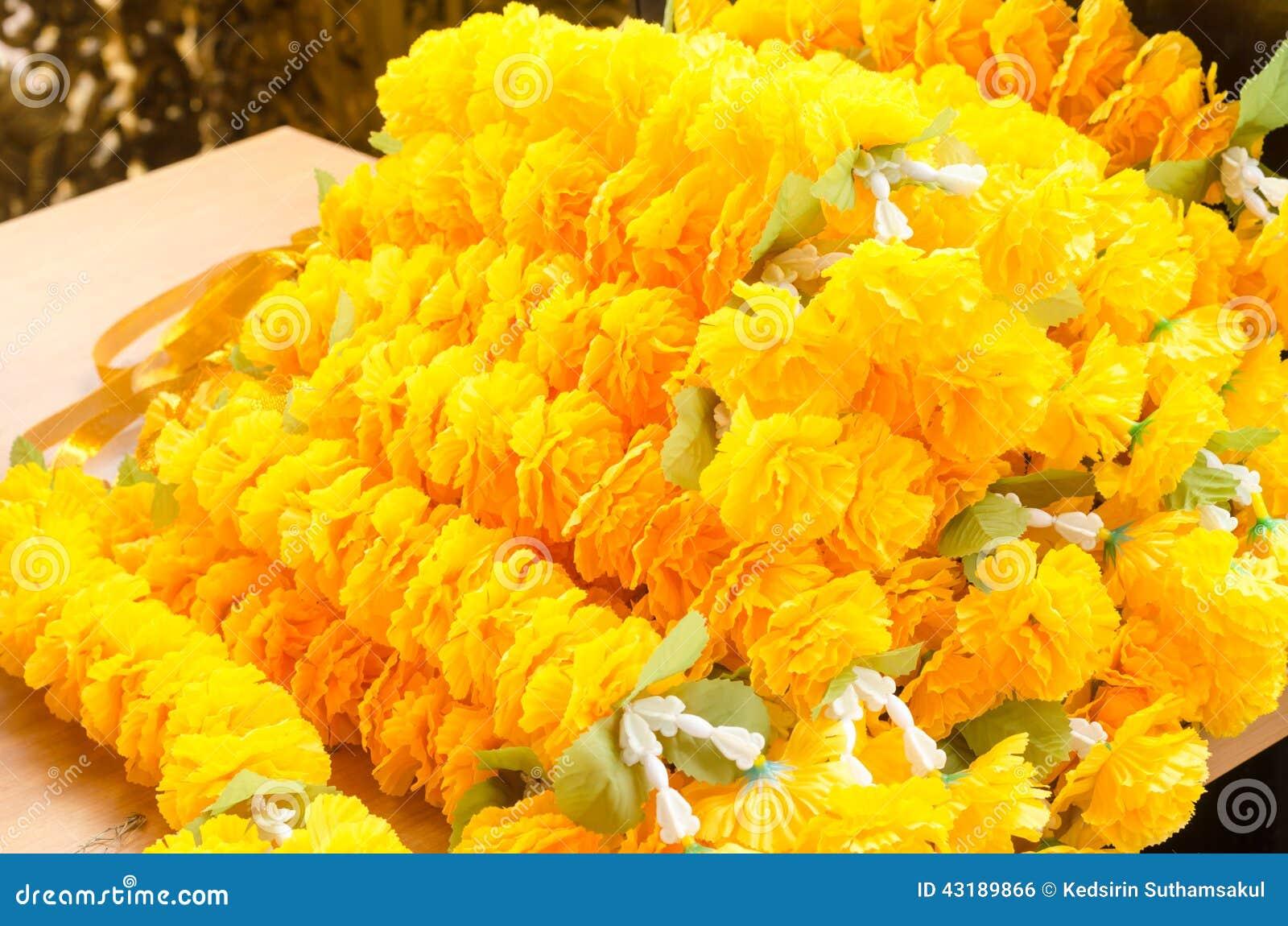 Beautiful Of Fake Yellow Flower Stock Photo Image Of Bundle Flora
