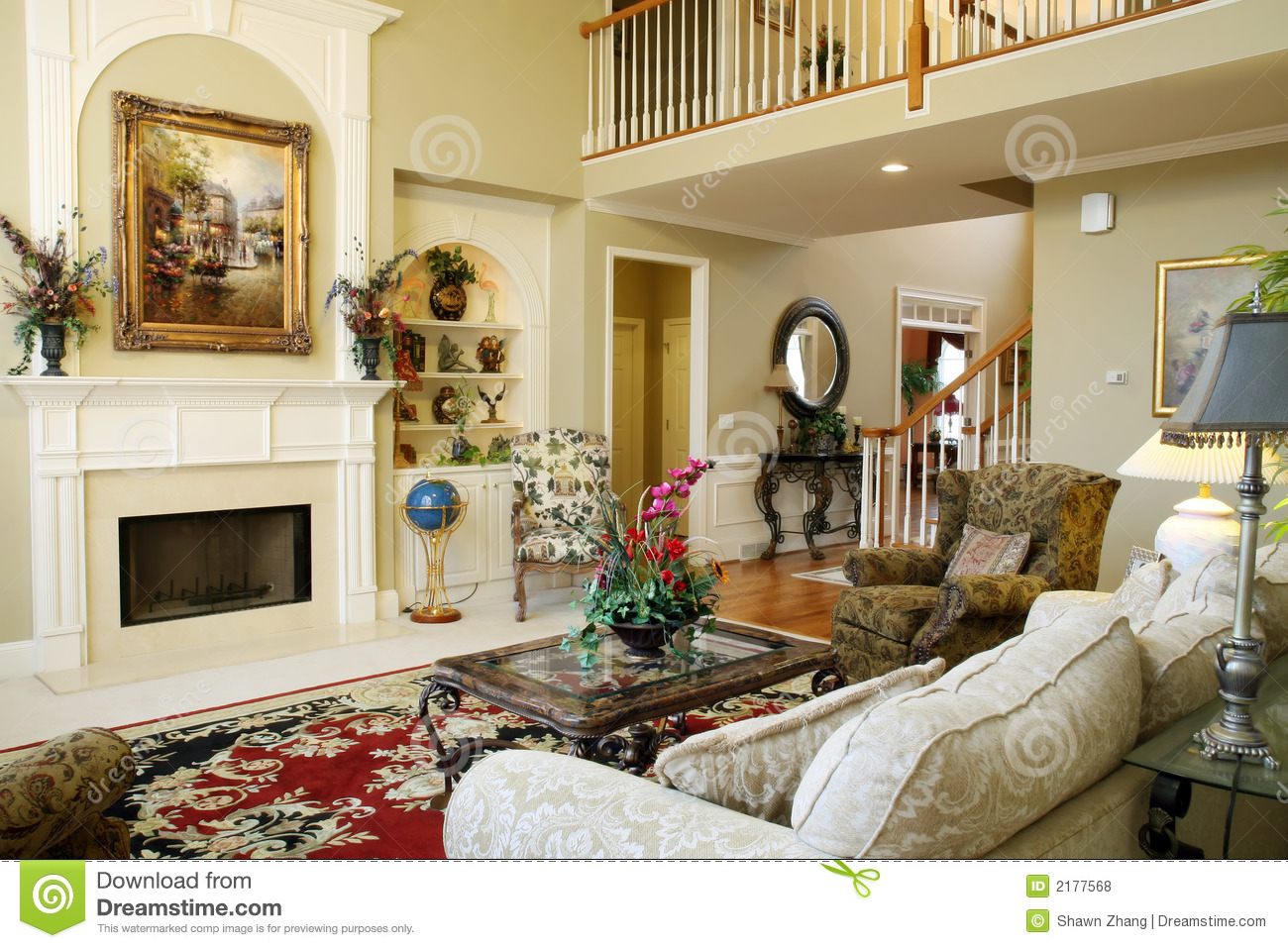 Beautiful family room royalty free stock photos image for Beautiful sitting room designs