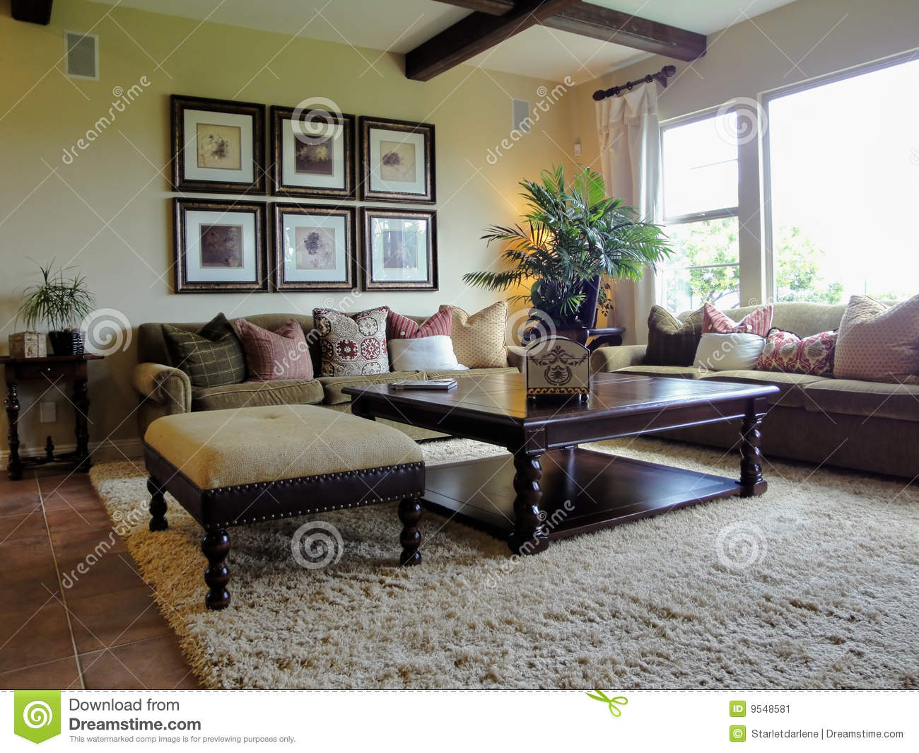 Beautiful family room stock image image of indoor for Beautiful family rooms