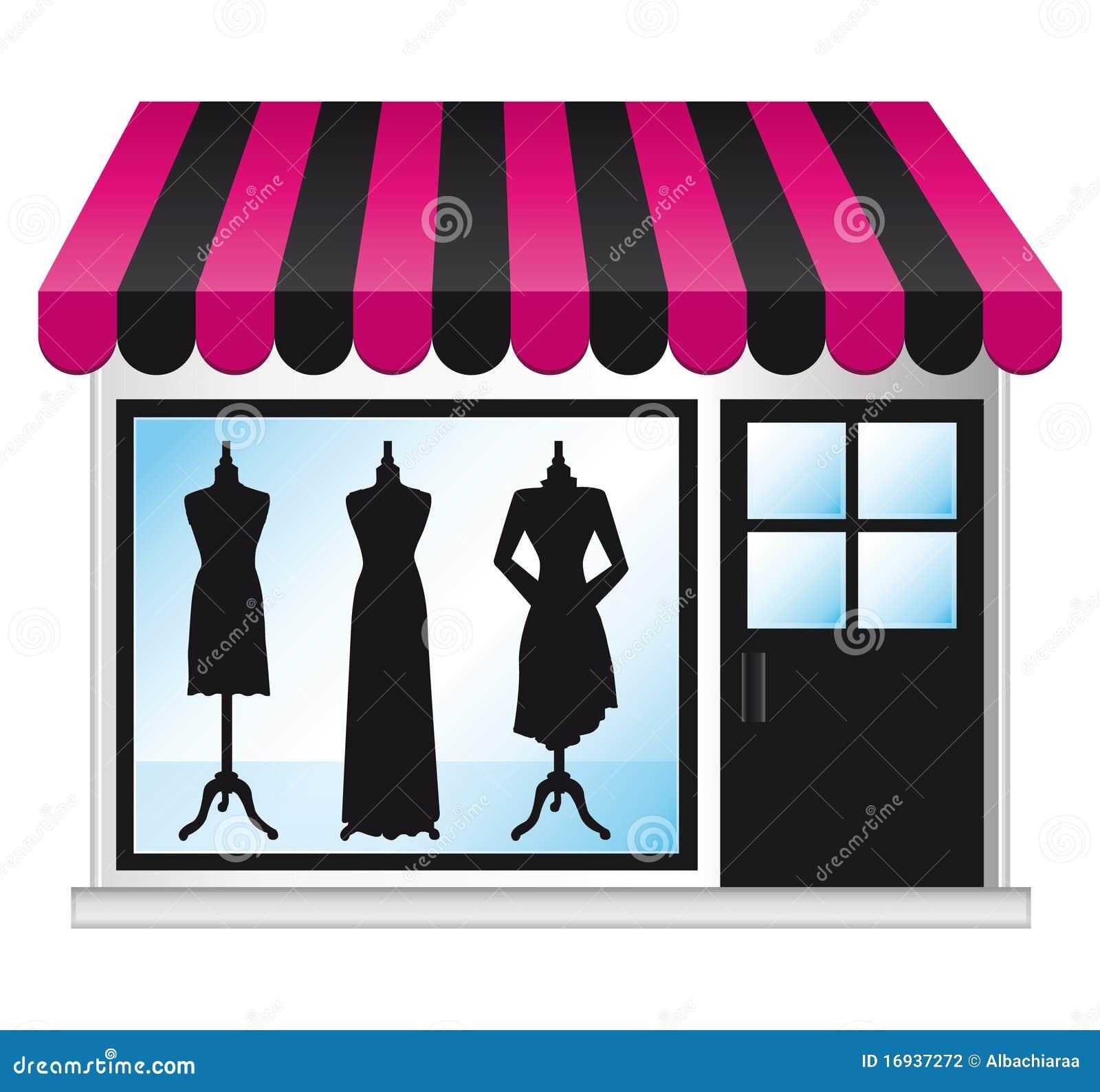 beautiful fashion boutique frontdoor stock photography   image
