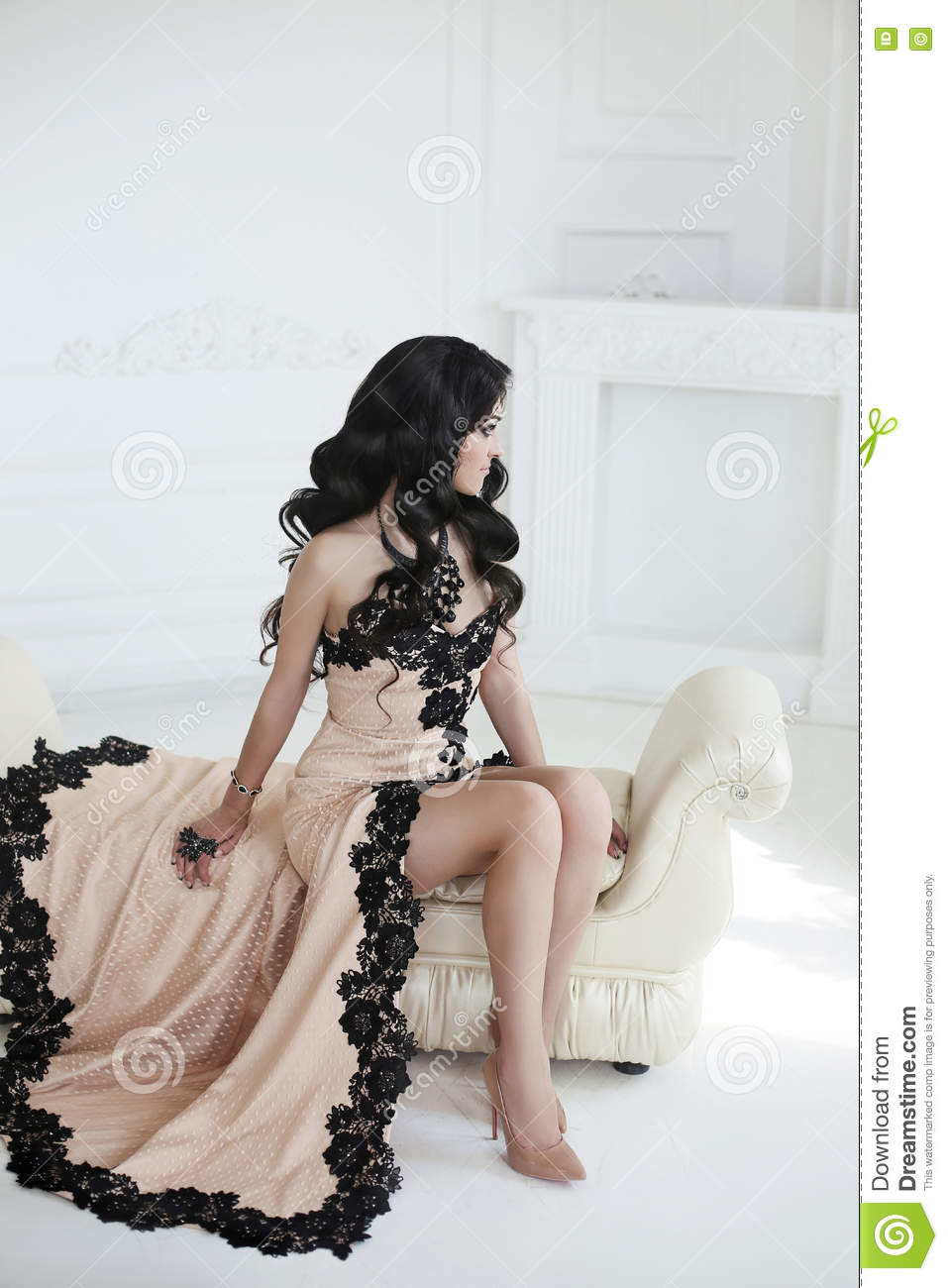 beautiful style hair beautiful fashion in dress with 3797