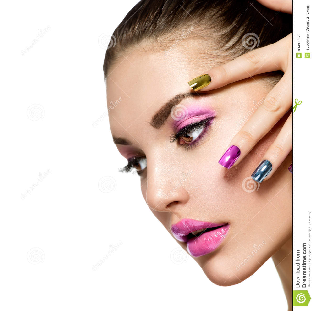 All 4u Hd Wallpaper Free Download Beautiful Nail Art: Beautiful Fashion Girls Face Stock Photo