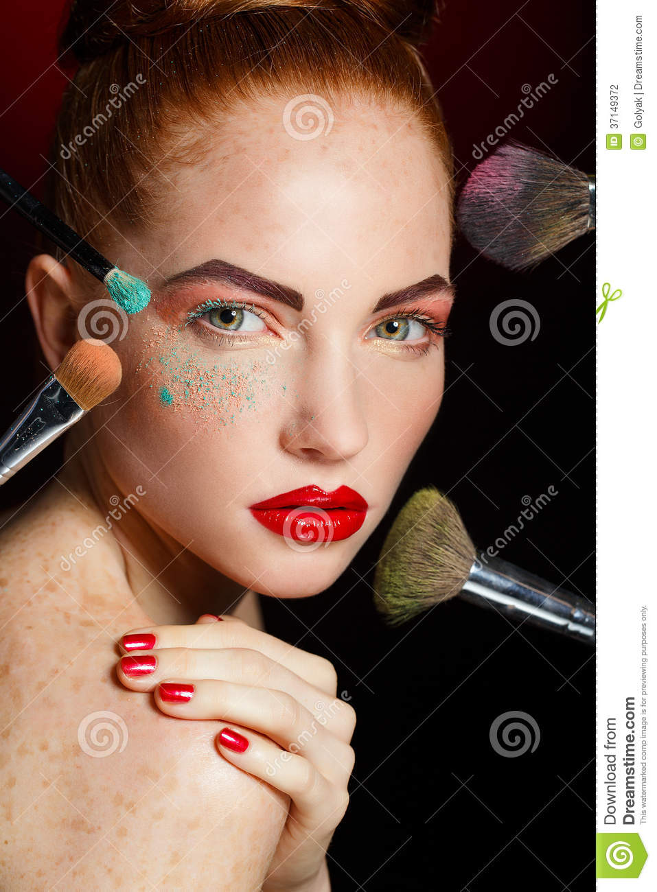 Beautiful fashion girl 39 s face makeup make up and for Skins beauty salon