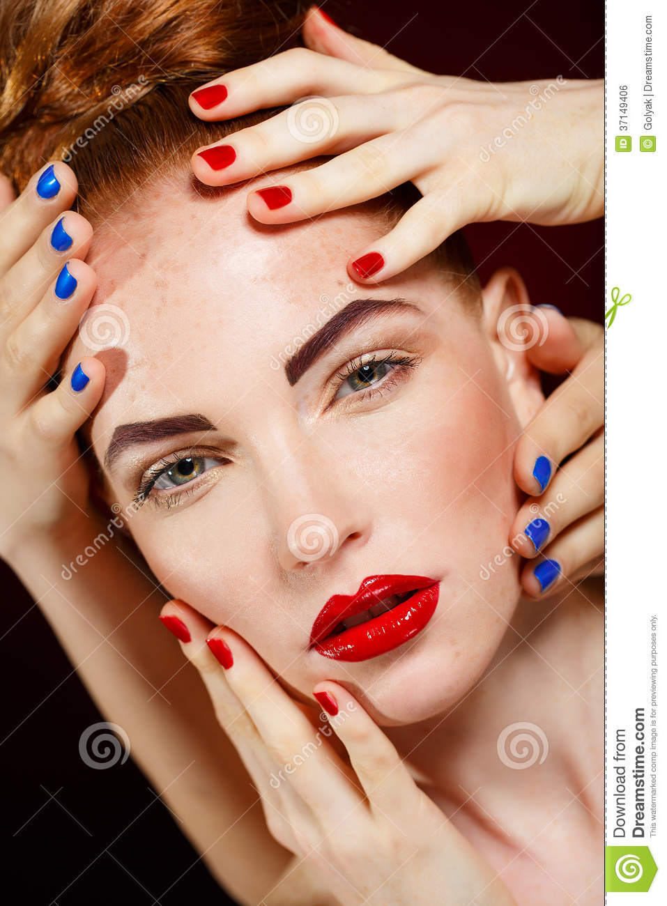 Beautiful Fashion Girl S Face Makeup Make Up And