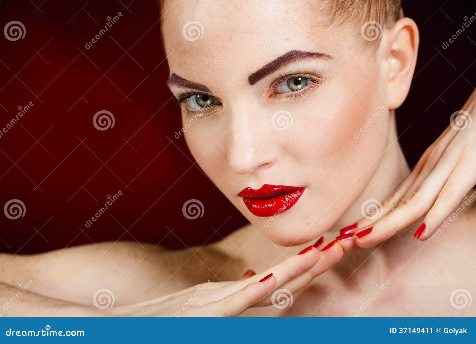 beauty girl face make - photo #40