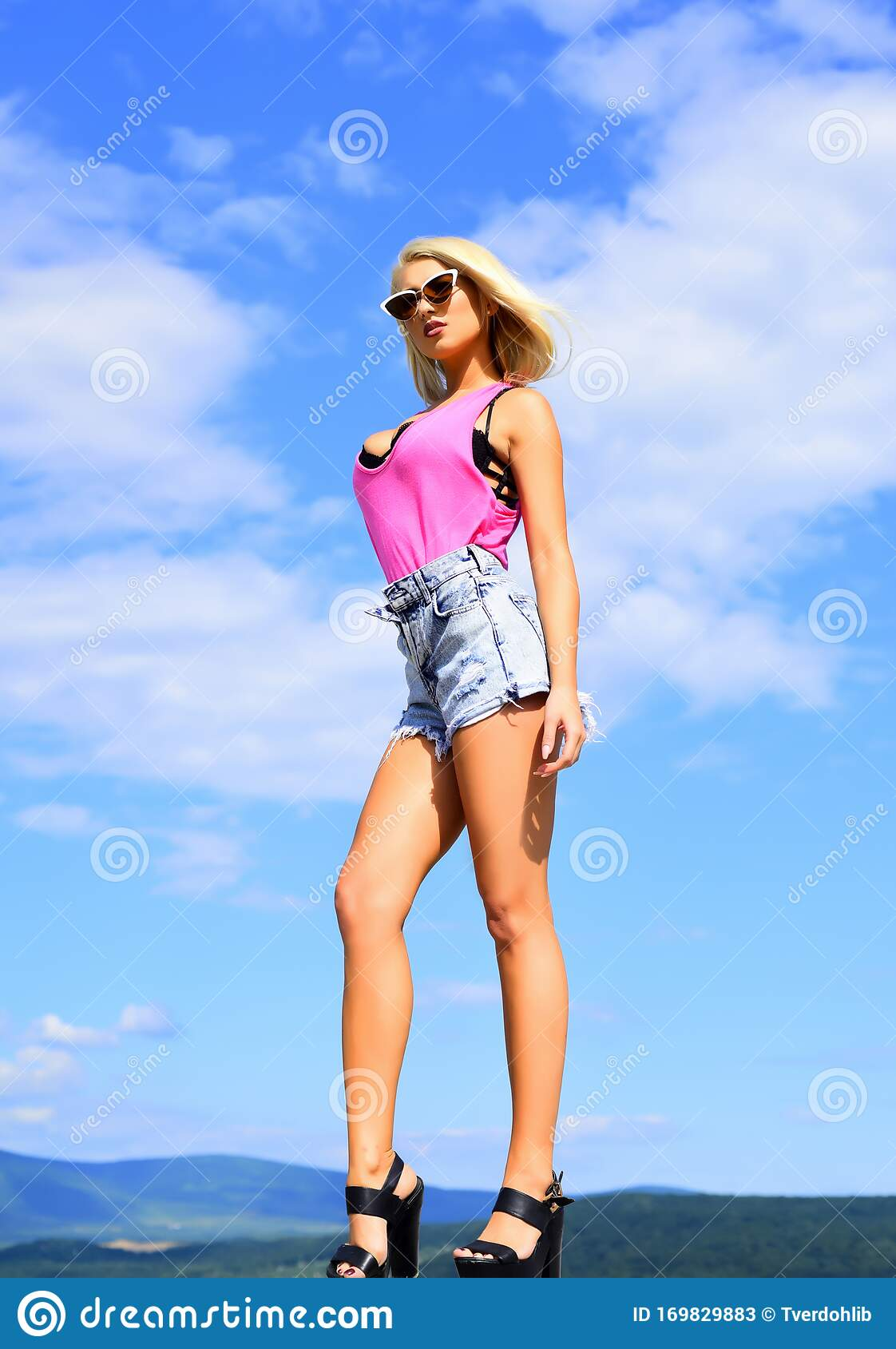Hot blonde babe stock illustration download image now istock.