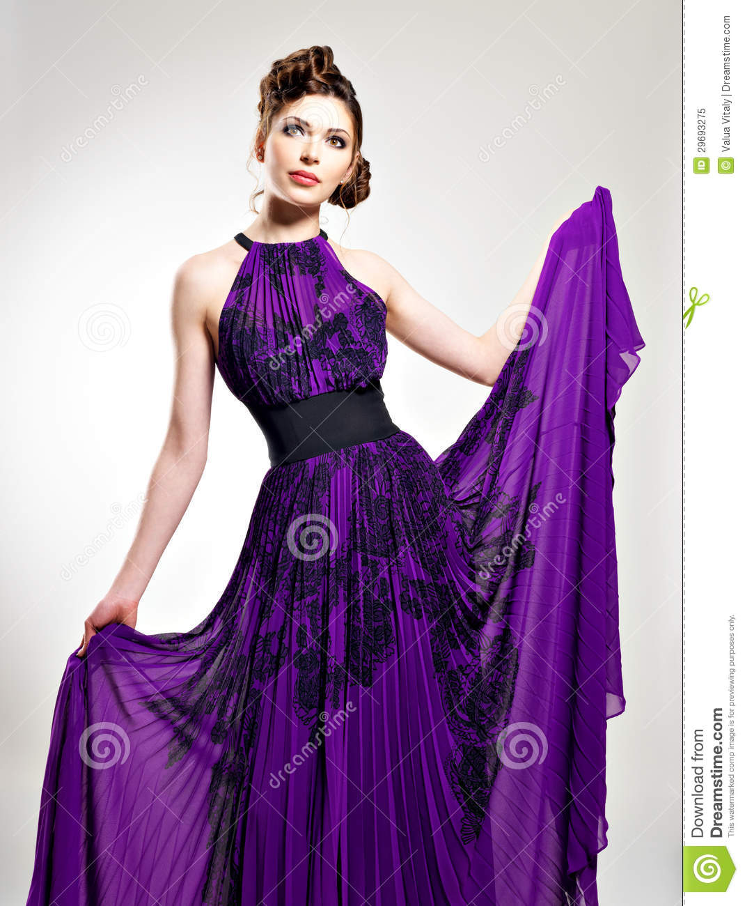 Long Purple Dresses