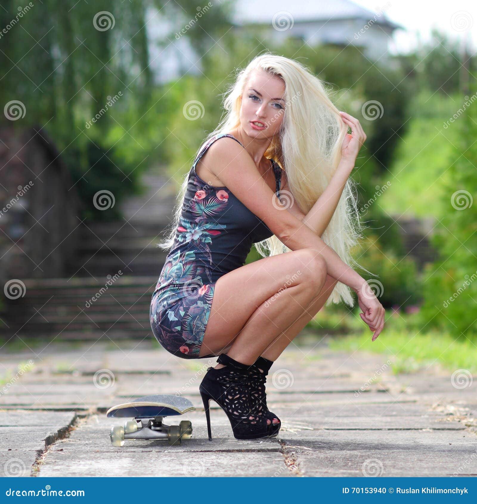 Blonde High Heels