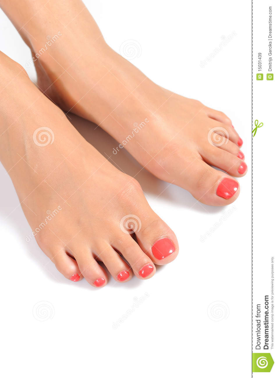 Beautiful Feet With Perfect Spa Pedicure Royalty Free ...