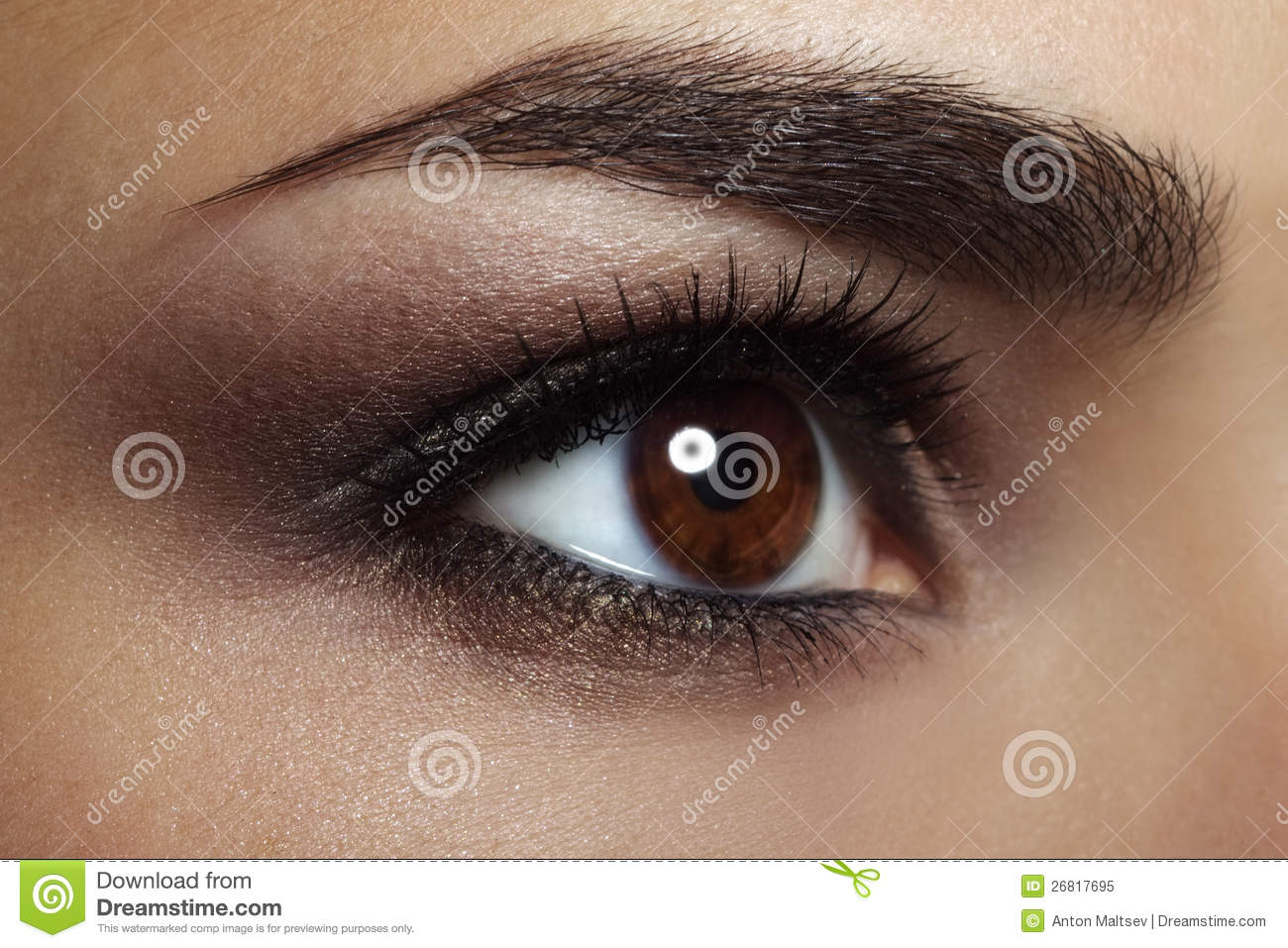 Beautiful Female Eye Makeup Close Up Stock Image Image Of