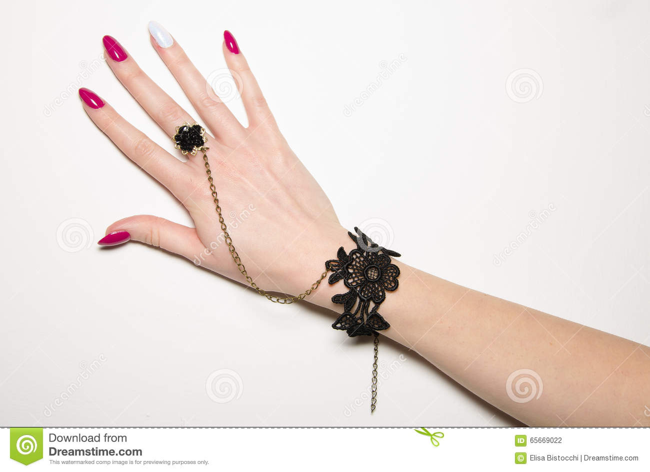 Beautiful Female Hand With Nail Art Stock Photo Image Of Finger