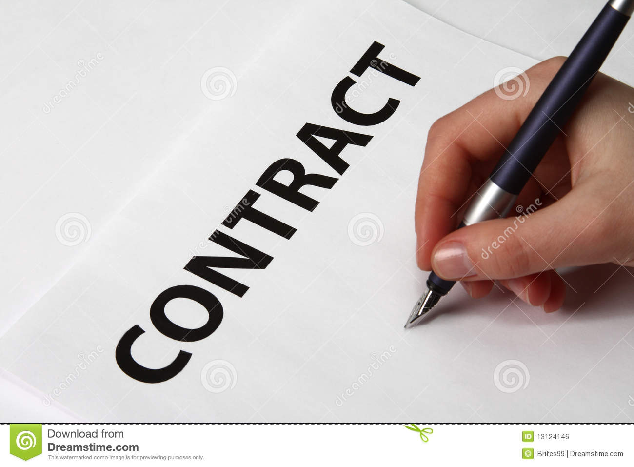 Beautiful Female Hand Signing A Contract Royalty Free Stock Image ...