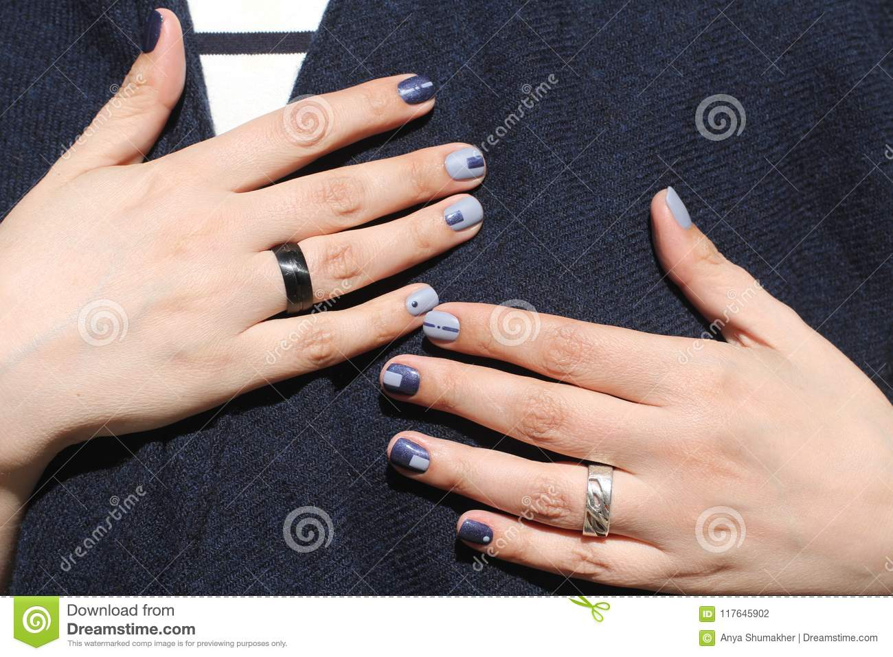 Beautiful Female Hands With Extraordinary Manicure Creative Nail