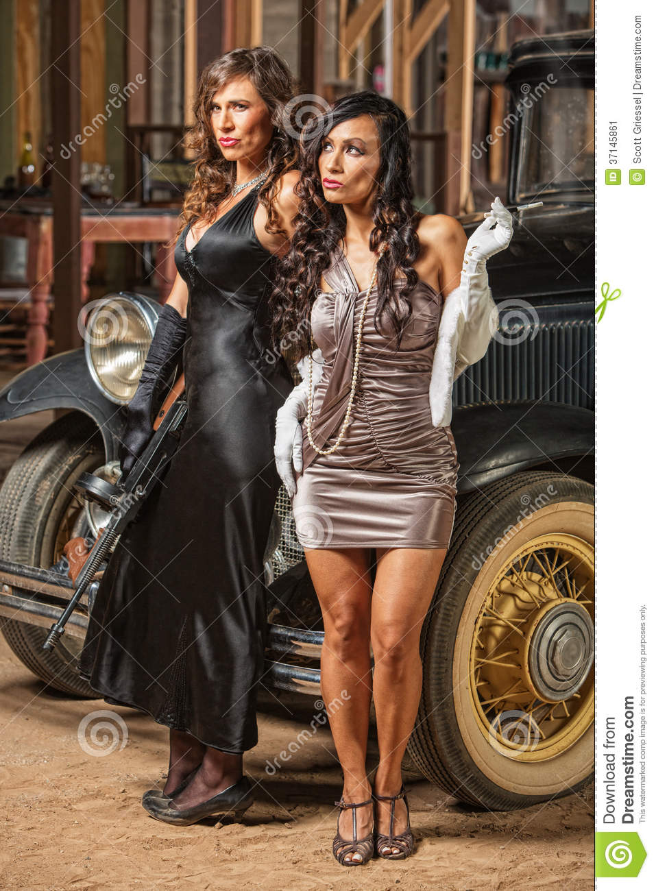 beautiful female 1920s gangsters stock image image 37145861