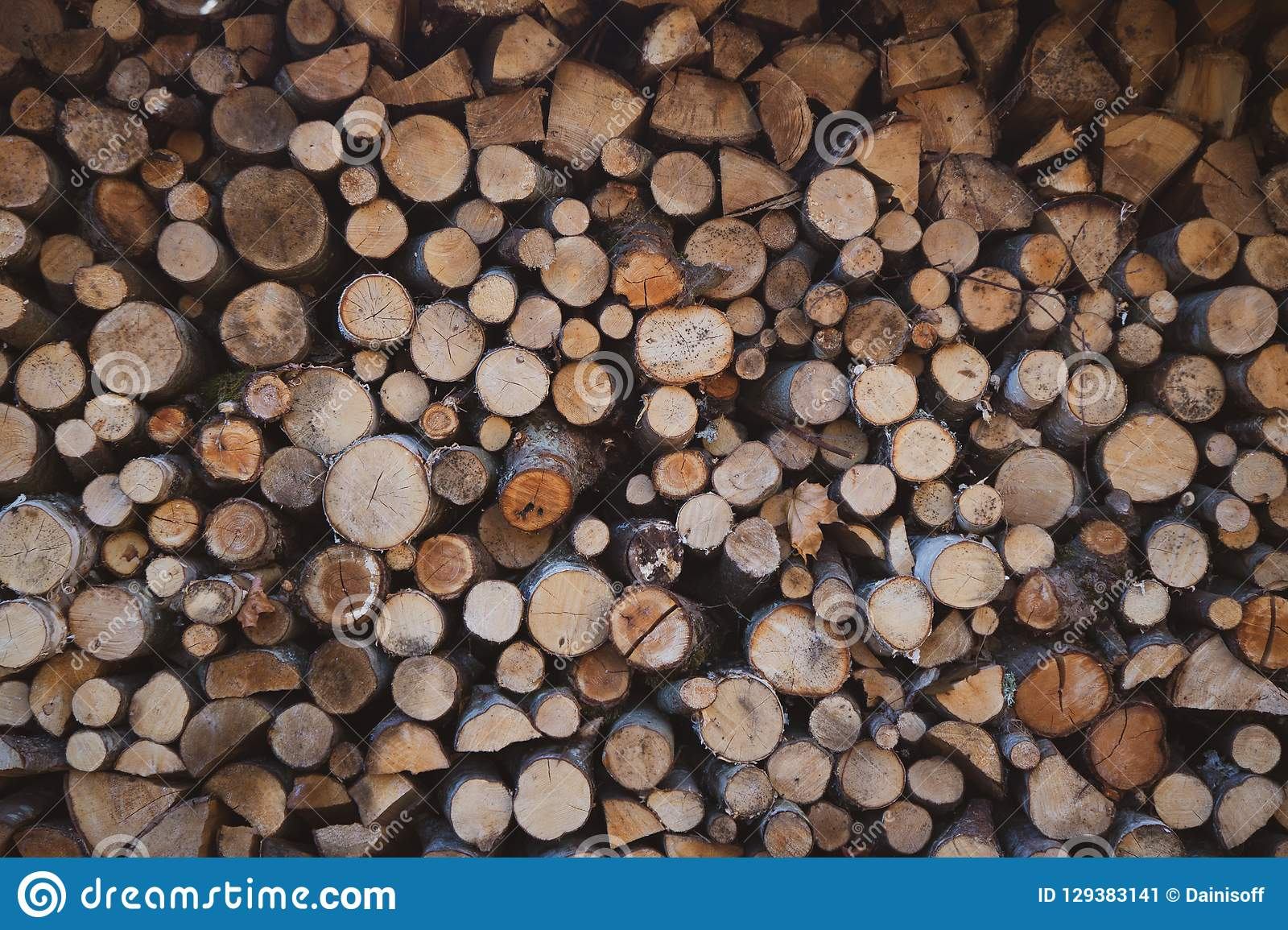 Beautiful firewood pile