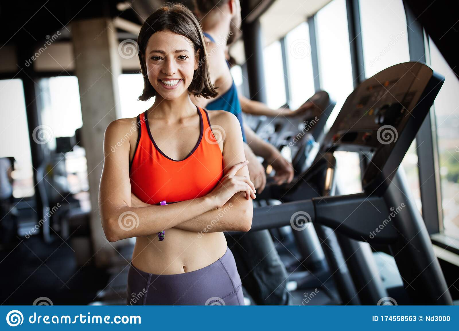 Beautiful Fit Women Working Out In Gym Stock Image Image Of Active People 174558563 Women's fleece sparkle training top. dreamstime com