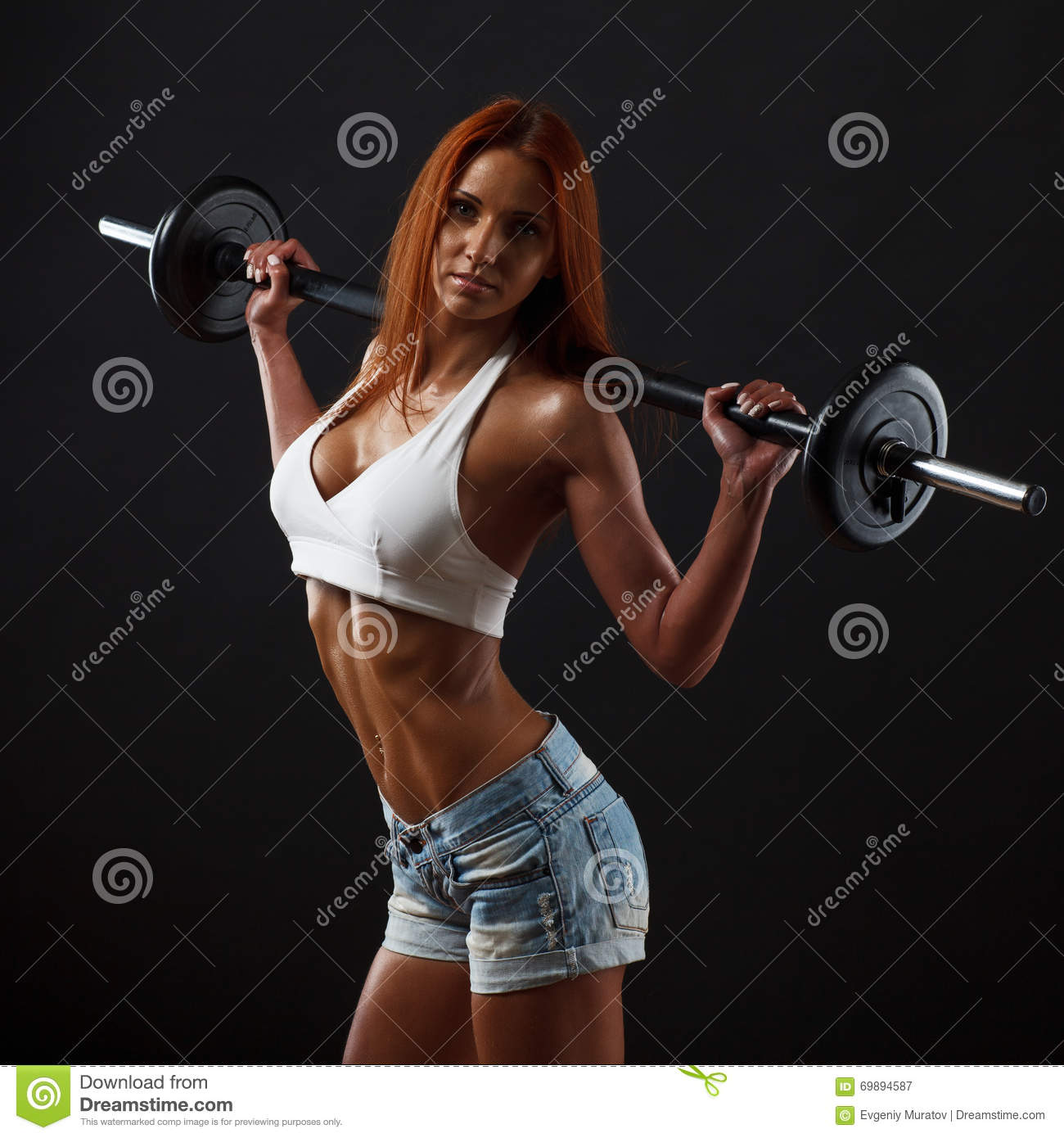 Beautiful fitness female