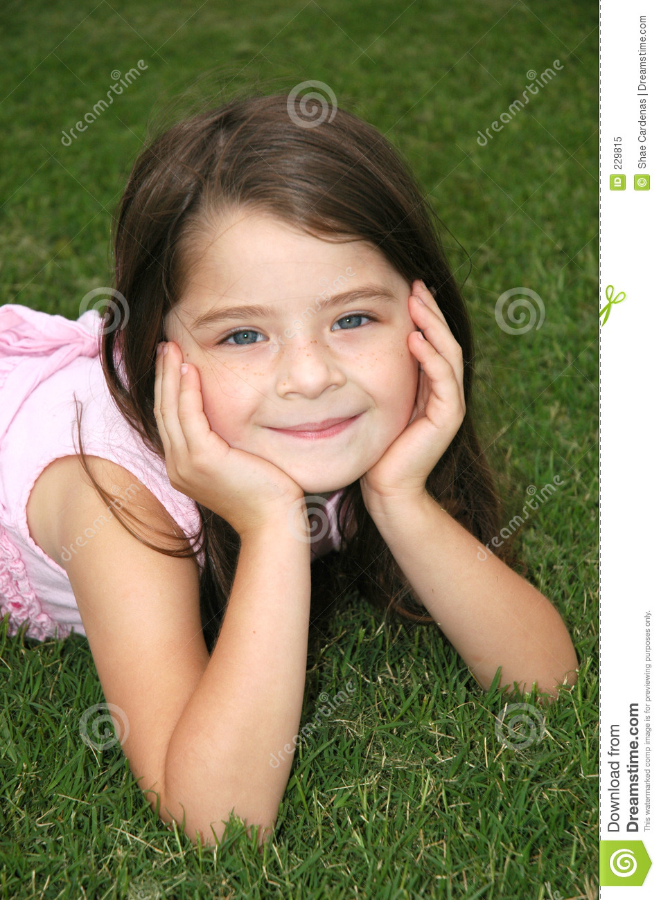 Beautiful Five Year Old Royalty Free Stock Photo Image