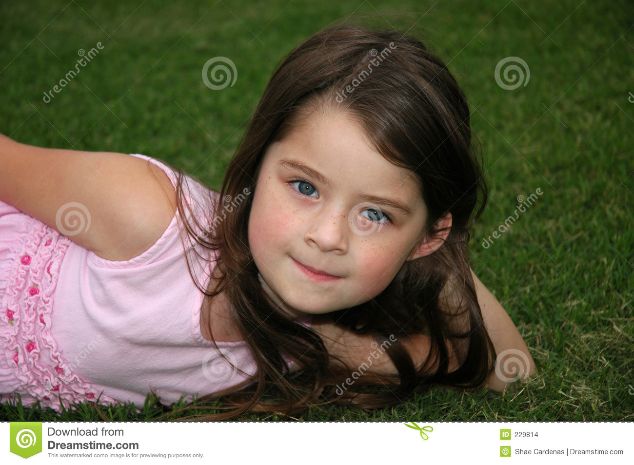 Beautiful Five Year Old Girl Stock Images Image 229814