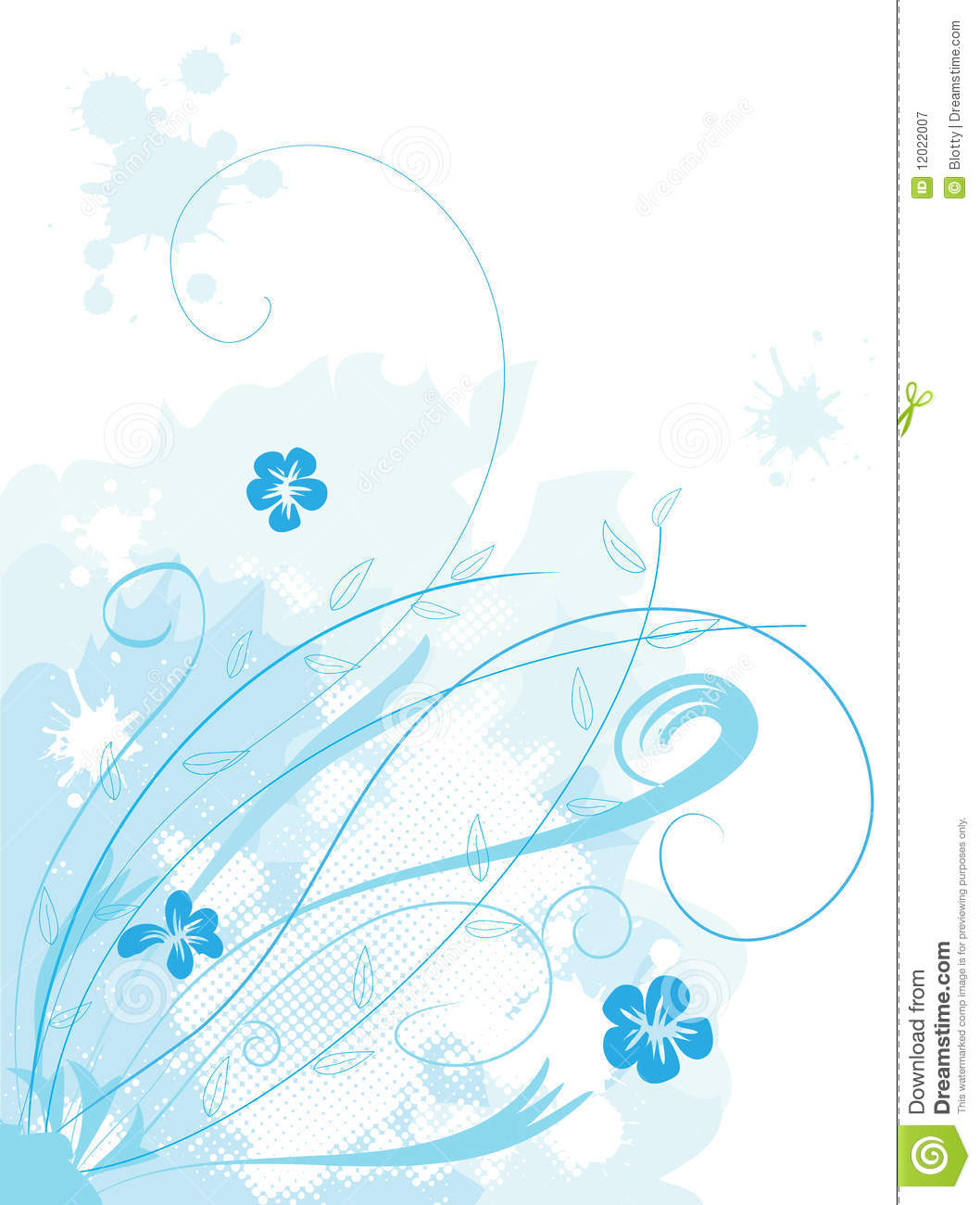 beautiful floral background stock vector - illustration of dirty
