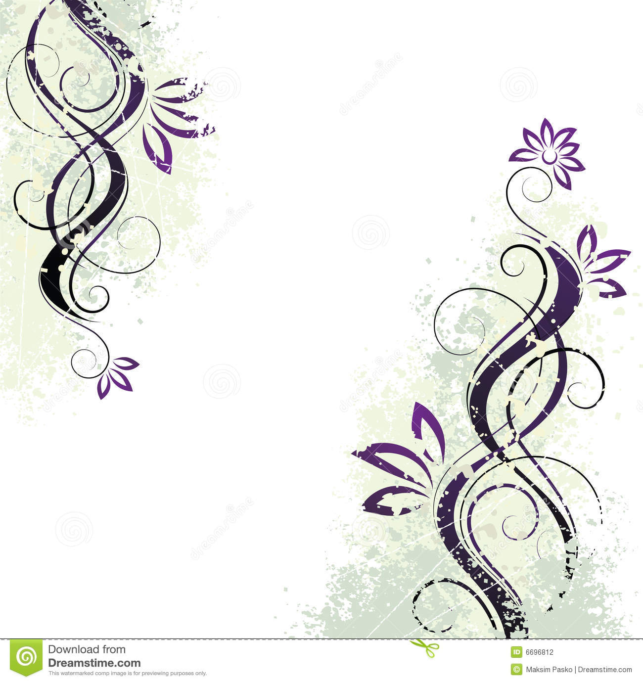 beautiful floral background stock vector - illustration of vine