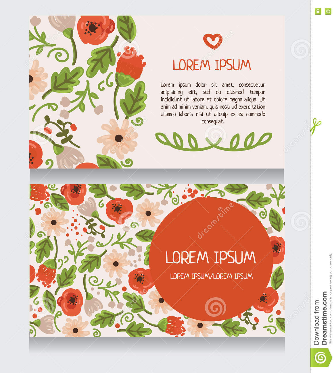 Beautiful floral business card stock vector illustration of download beautiful floral business card stock vector illustration of decoration engagement 75615928 accmission Choice Image