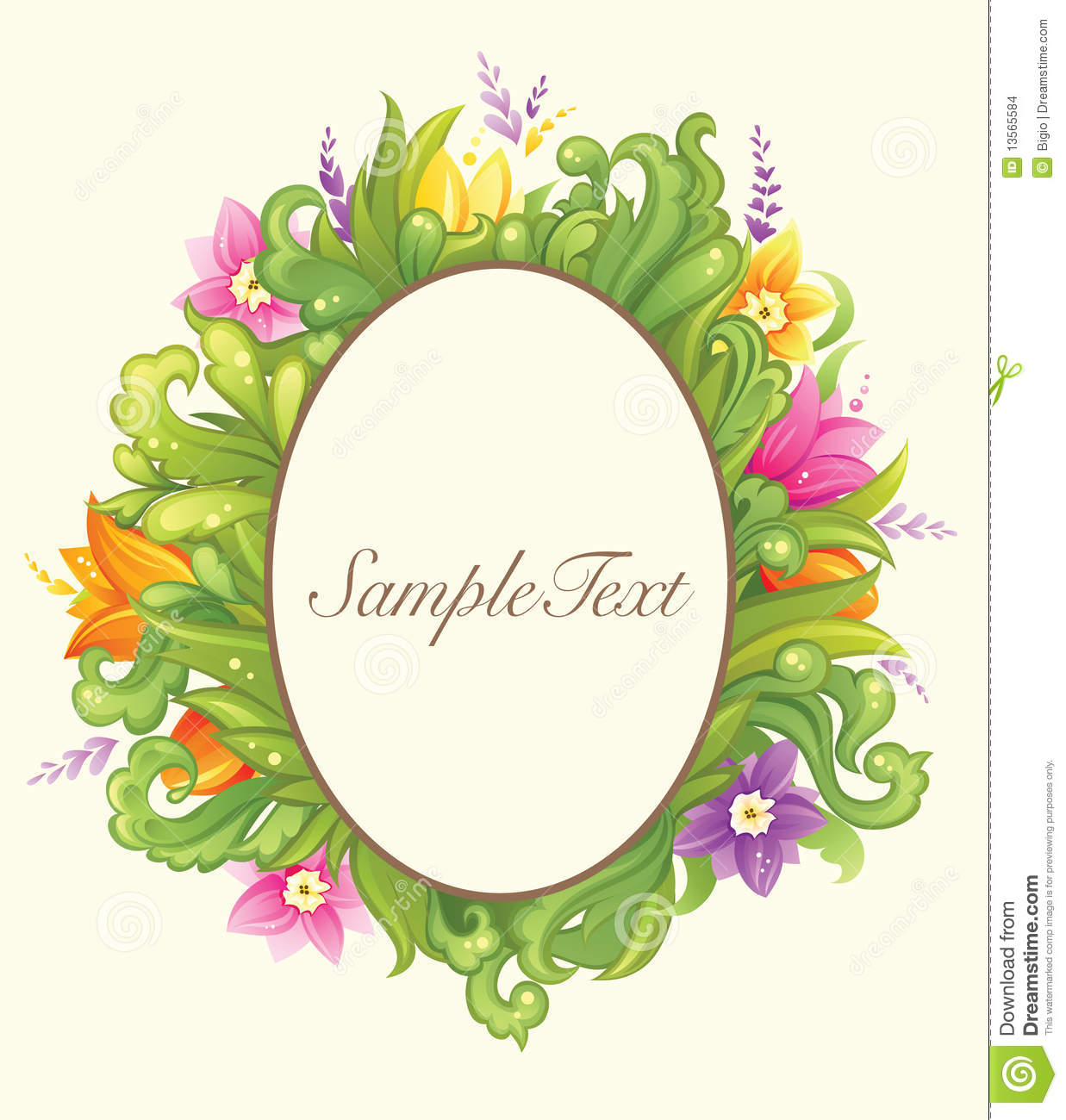 Floral design in circle stock vector image 75615991 - Beautiful Floral Circle Design Stock Images