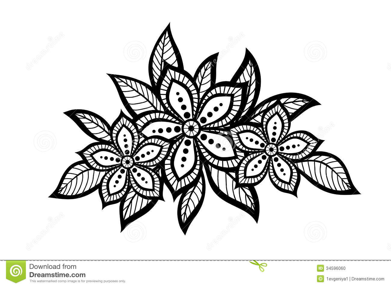 Perfect ideas of simple flower pattern drawing best home design beautiful floral pattern a design element in the stock thecheapjerseys Choice Image