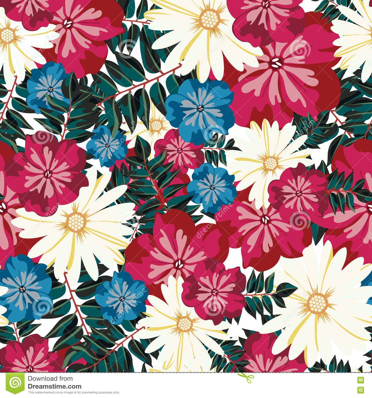 Beautiful Floral Pattern. Seamless Pattern. Flowers ...