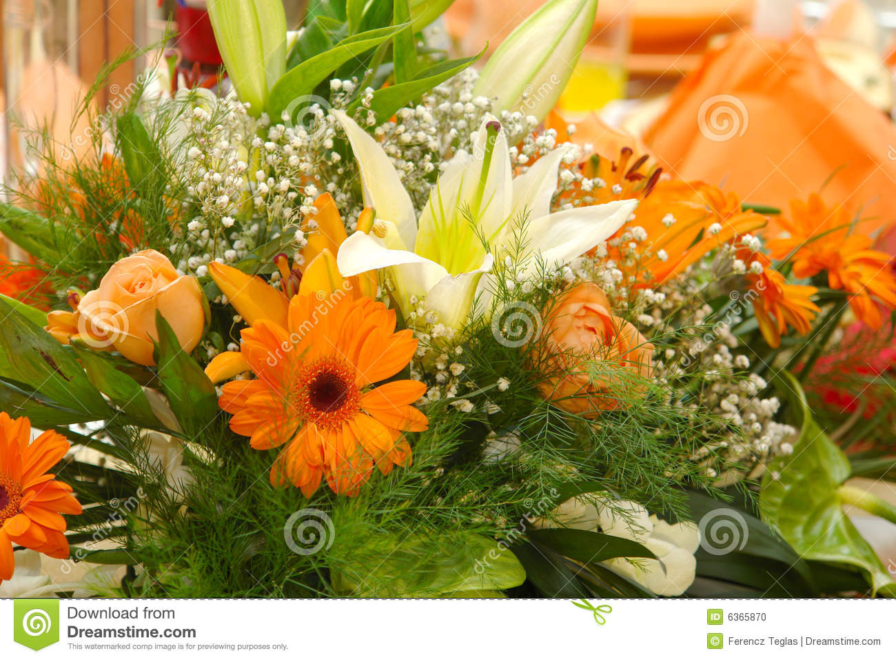 Beautiful Flower Arrangement Stock Photo Image Of Bunch Color