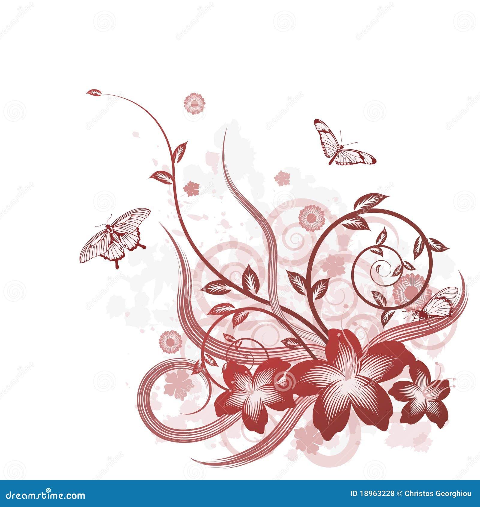beautiful flower background motif stock vector. Black Bedroom Furniture Sets. Home Design Ideas