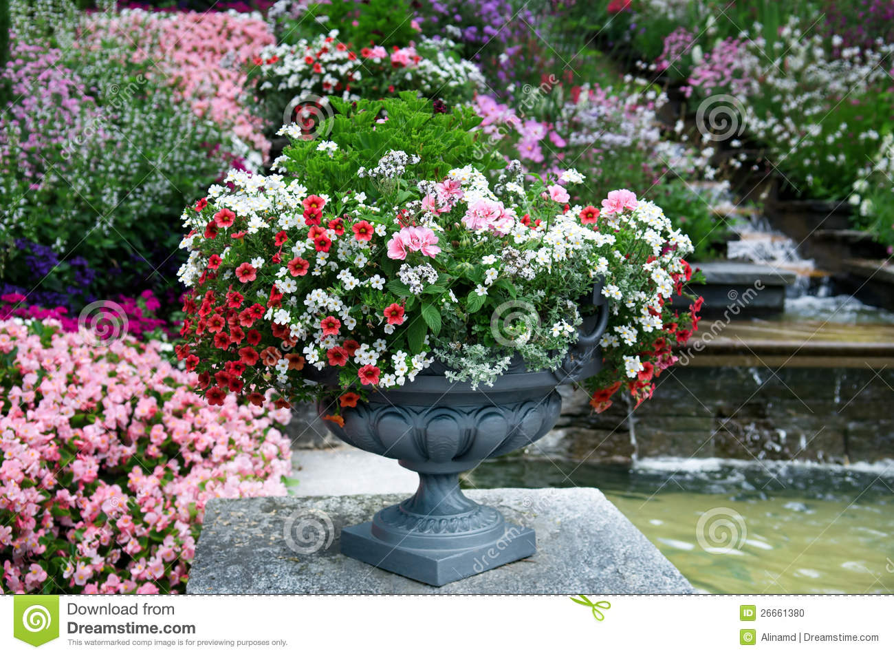 Beautiful flower bed stock photo image 26661380 for Beautiful flower beds