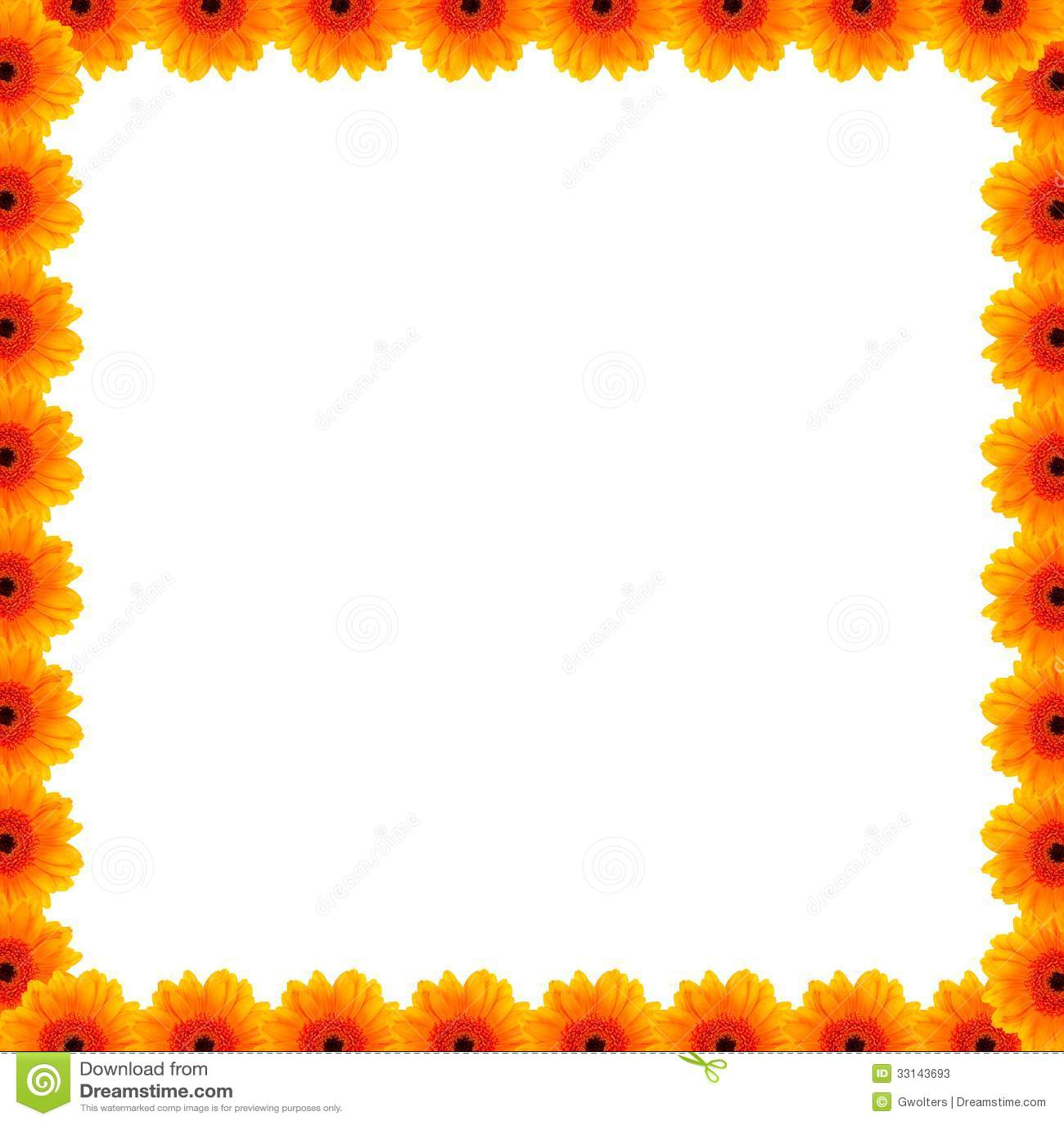 Beautiful Flower Border Stock Image Image Of Beauty
