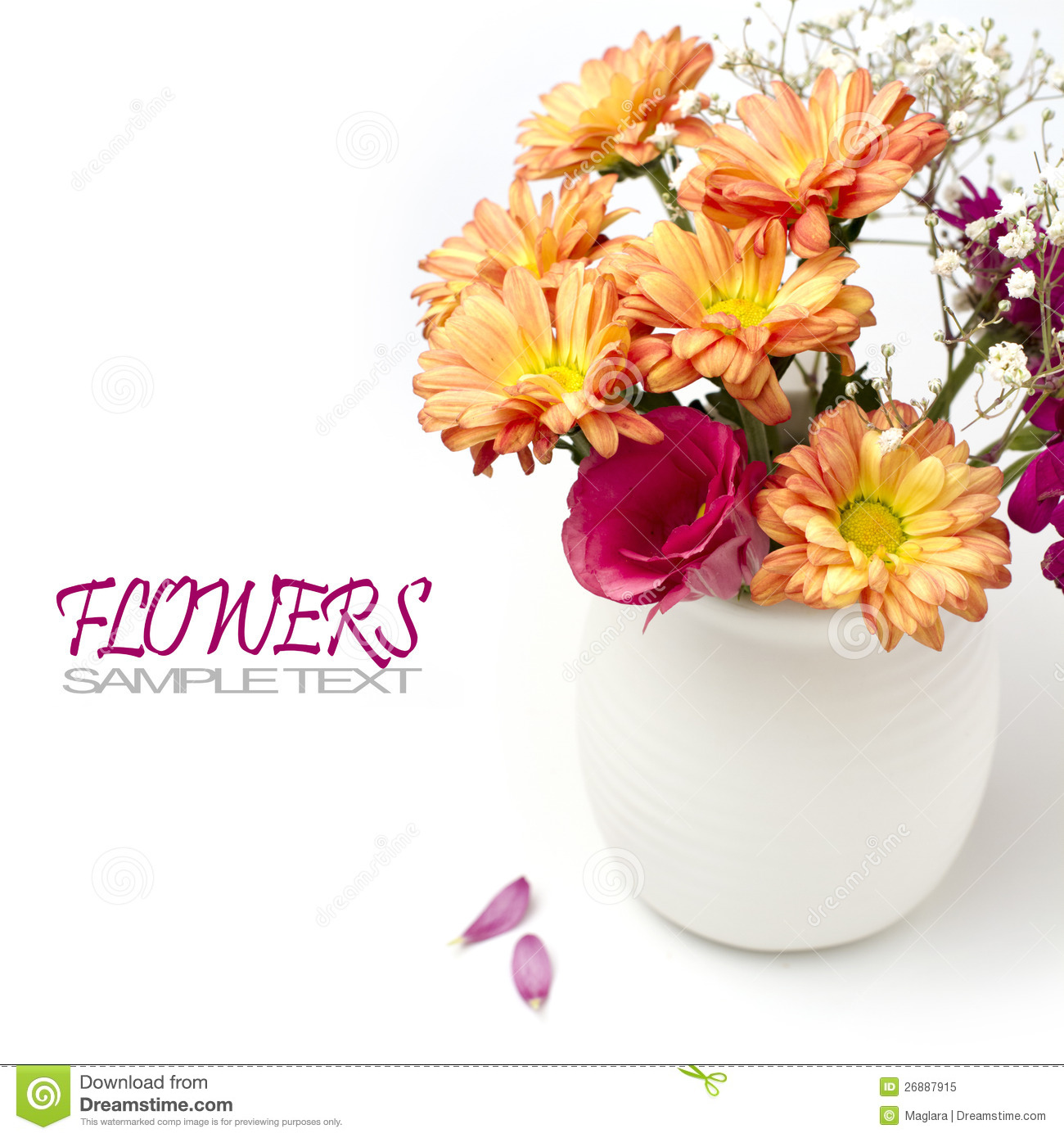 Beautiful flower bouquet stock image. Image of tabletop - 26887915