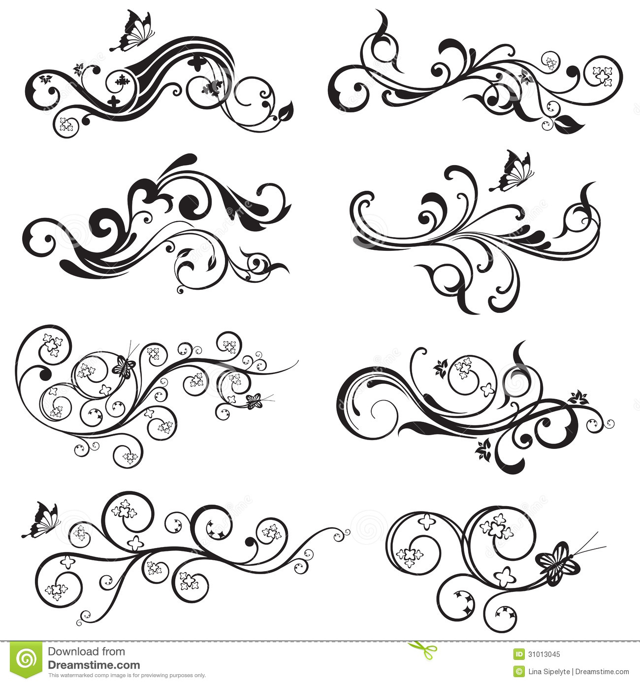 Beautiful flower and butterfly silhouettes design stock vector download beautiful flower and butterfly silhouettes design stock vector illustration of flowering bloom mightylinksfo